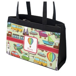 Vintage Transportation Zippered Everyday Tote (Personalized)