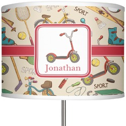"""Vintage Sports 13"""" Drum Lamp Shade (Personalized)"""
