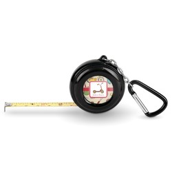 Vintage Sports Pocket Tape Measure - 6 Ft w/ Carabiner Clip (Personalized)