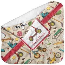 Vintage Sports Baby Hooded Towel (Personalized)