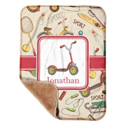 """Vintage Sports Sherpa Baby Blanket 30"""" x 40"""" (Personalized)"""