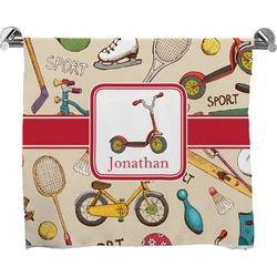 Vintage Sports Full Print Bath Towel (Personalized)