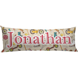 Vintage Sports Body Pillow Case (Personalized)
