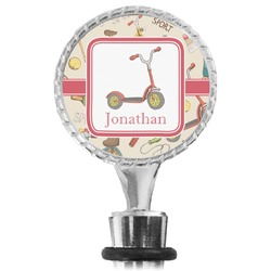 Vintage Sports Wine Bottle Stopper (Personalized)