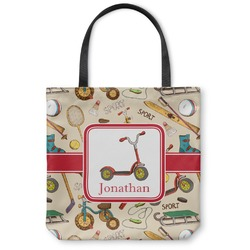 Vintage Sports Canvas Tote Bag (Personalized)