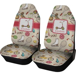 Vintage Sports Car Seat Covers (Set of Two) (Personalized)