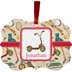 Vintage Sports Ornament (Personalized)