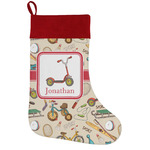 Vintage Sports Holiday Stocking w/ Name or Text