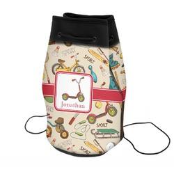 Vintage Sports Neoprene Drawstring Backpack (Personalized)