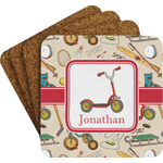 Vintage Sports Coaster Set w/ Stand (Personalized)