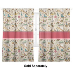 """Vintage Sports Curtains - 40""""x54"""" Panels - Lined (2 Panels Per Set) (Personalized)"""
