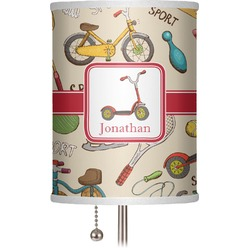 """Vintage Sports 7"""" Drum Lamp Shade (Personalized)"""