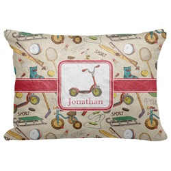 "Vintage Sports Decorative Baby Pillowcase - 16""x12"" (Personalized)"