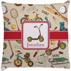 Vintage Sports Decorative Pillow Case (Personalized)
