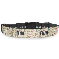 """Vintage Sports Deluxe Dog Collar - Large (13"""" to 21"""") (Personalized)"""