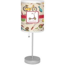 """Vintage Sports 7"""" Drum Lamp with Shade (Personalized)"""