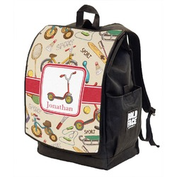 Vintage Sports Backpack w/ Front Flap  (Personalized)