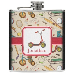 Vintage Sports Genuine Leather Flask (Personalized)