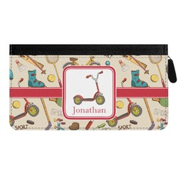 Vintage Sports Genuine Leather Ladies Zippered Wallet (Personalized)