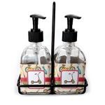 Vintage Sports Soap & Lotion Dispenser Set (Glass) (Personalized)