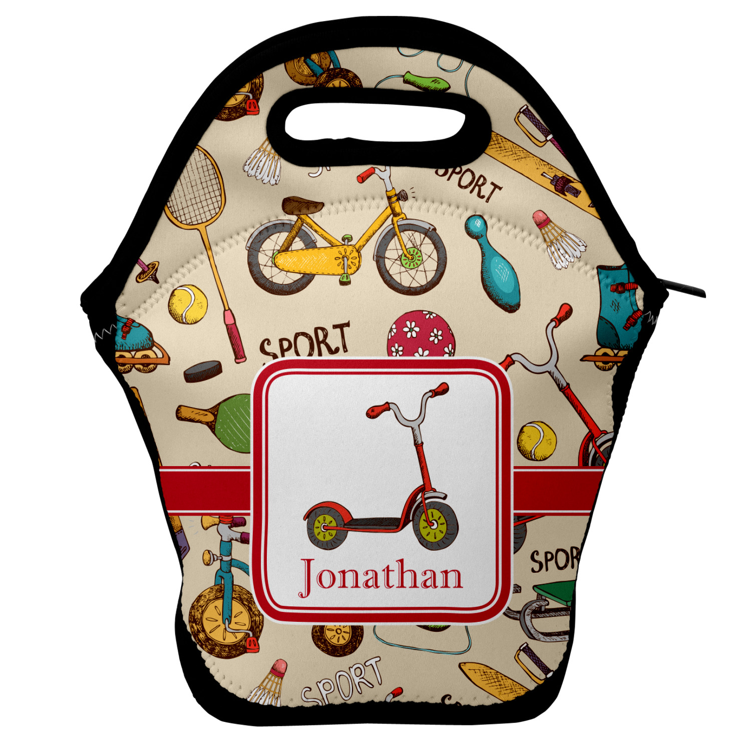 Vintage Sports Lunch Bag Personalized