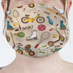 Vintage Sports Face Mask Cover (Personalized)