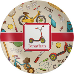 Vintage Sports Melamine Plate (Personalized)