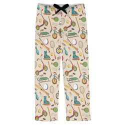 Vintage Sports Mens Pajama Pants (Personalized)