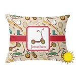 Vintage Sports Outdoor Throw Pillow (Rectangular) (Personalized)