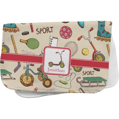 Vintage Sports Burp Cloth Personalized Youcustomizeit