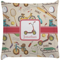 Vintage Sports Euro Sham Pillow Case (Personalized)