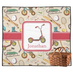 Vintage Sports Outdoor Picnic Blanket (Personalized)