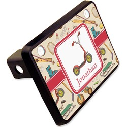 """Vintage Sports Rectangular Trailer Hitch Cover - 2"""" (Personalized)"""