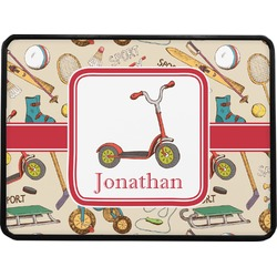 """Vintage Sports Rectangular Trailer Hitch Cover - 1.25"""" (Personalized)"""