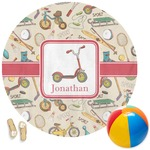 Vintage Sports Round Beach Towel (Personalized)