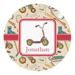 Vintage Sports Round Decal (Personalized)