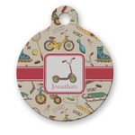 Vintage Sports Round Pet Tag (Personalized)