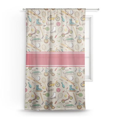 Vintage Sports Sheer Curtains (Personalized)
