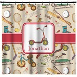 Vintage Sports Shower Curtain (Personalized)