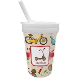 Vintage Sports Sippy Cup with Straw (Personalized)