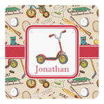 Vintage Sports Square Decal (Personalized)
