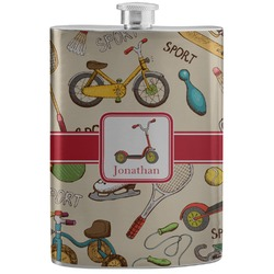 Vintage Sports Stainless Steel Flask (Personalized)