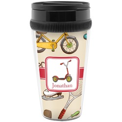 Vintage Sports Travel Mugs (Personalized)