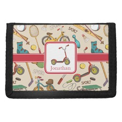Vintage Sports Trifold Wallet (Personalized)