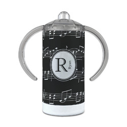 Musical Notes 12 oz Stainless Steel Sippy Cup (Personalized)