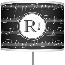 "Musical Notes 13"" Drum Lamp Shade (Personalized)"