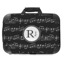 Musical Notes Hard Shell Briefcase (Personalized)