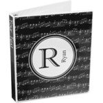 Musical Notes 3-Ring Binder (Personalized)