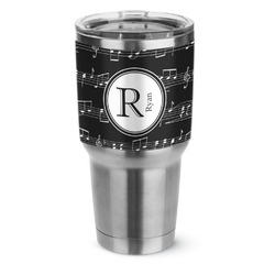 Musical Notes Stainless Steel Tumbler - 30 oz (Personalized)