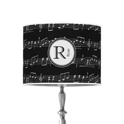 """Musical Notes 8"""" Drum Lamp Shade - Poly-film (Personalized)"""